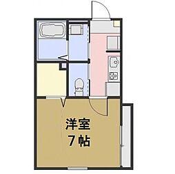 埼玉県さいたま市浦和区本太1丁目の賃貸アパートの間取り