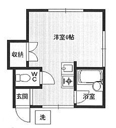 東京都練馬区田柄2丁目の賃貸アパートの間取り