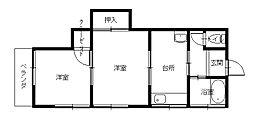 長崎県長崎市星取2丁目の賃貸アパートの間取り