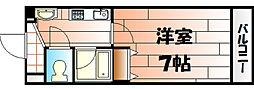 吉野町ワンルームマンション[305号室]の間取り