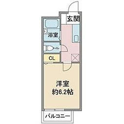 愛知県名古屋市名東区社が丘2丁目の賃貸アパートの間取り