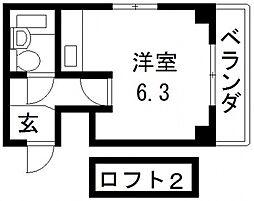 Vie八戸ノ里[301号室号室]の間取り