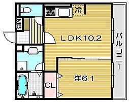 (仮称)茨木市猪熊ハイツ[3階]の間取り