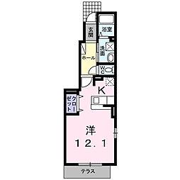 保土ケ谷区桜ケ丘1丁目 カーサ プリマ[1階]の間取り