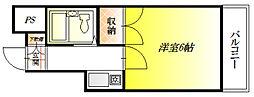 ハイツ藤井寺[2階]の間取り