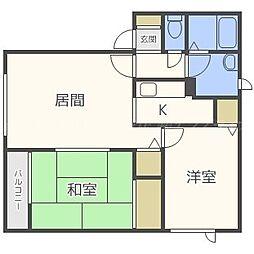ハイセレールN51A棟[1階]の間取り