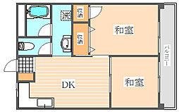 博多エステートビル[4階]の間取り