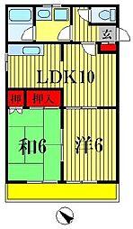 秋本ビル[4階]の間取り