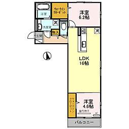 ムーランアヴァンE[3階]の間取り