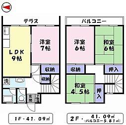 旗ヶ崎Nマンション[C号室]の間取り