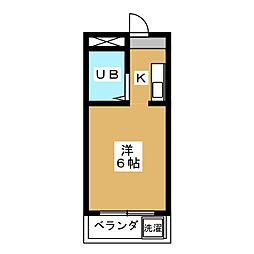 ビラ東寺[3階]の間取り
