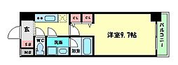 Osaka Metro堺筋線 北浜駅 徒歩5分の賃貸マンション 5階1Kの間取り