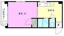 レーベンイケダ第3 ビル[302 号室号室]の間取り