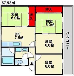 春日パークマンション[2階]の間取り