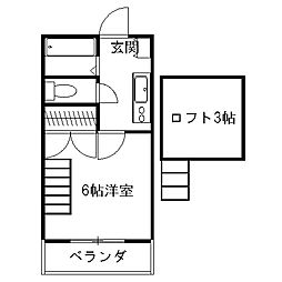 高知県高知市中久万の賃貸アパートの間取り