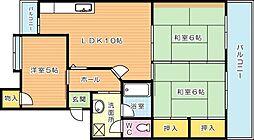 ハイランドマンション千代ヶ崎[3階]の間取り