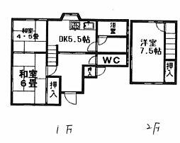 [一戸建] 愛媛県伊予郡砥部町宮内 の賃貸【/】の間取り