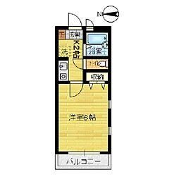 パークハウスA[201号室]の間取り