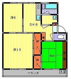 栃木県小山市大字神鳥谷の賃貸マンションの間取り
