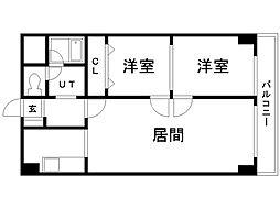 M16マンション 5階2LDKの間取り