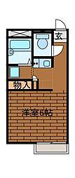 ポコアポコ[2階]の間取り