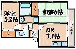 広島県安芸郡熊野町萩原9丁目の賃貸アパートの間取り