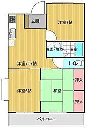 埼玉県大里郡寄居町大字桜沢の賃貸マンションの間取り