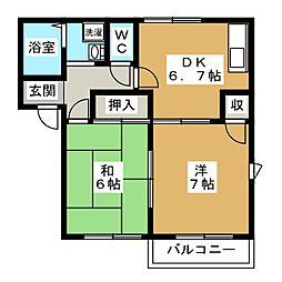 ドミール修学院[2階]の間取り