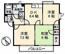 広島県広島市安佐南区伴中央1丁目の賃貸アパートの間取り