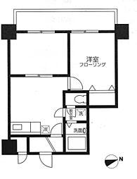 モナークマンション後楽園[5階]の間取り