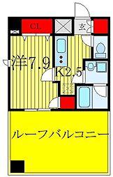 フュージョナル北赤羽DUE 3階1Kの間取り