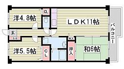 プランドール兵庫駅南通[1階]の間取り