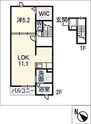 ブライトII[2階]の間取り