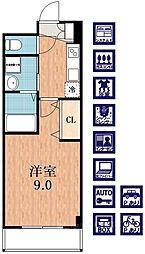 プラウドコート[5階]の間取り