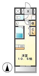 エルミタージュ名駅西[5階]の間取り
