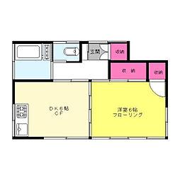 東京都新宿区大京町の賃貸アパートの間取り