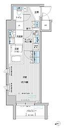 東急大井町線 等々力駅 徒歩10分の賃貸マンション 2階1Kの間取り