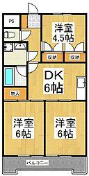 JUN谷戸ハイツ[2階]の間取り