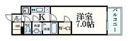 JR東海道・山陽本線 三ノ宮駅 徒歩5分の賃貸マンション 3階1Kの間取り