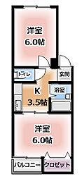 第3明成ハイツ[4階]の間取り