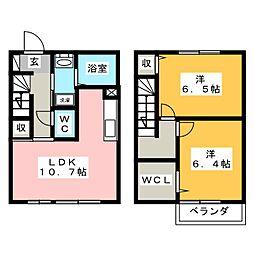 [テラスハウス] 静岡県焼津市小土 の賃貸【/】の間取り