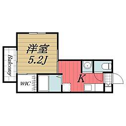 千葉県印旛郡酒々井町ふじき野3丁目の賃貸アパートの間取り