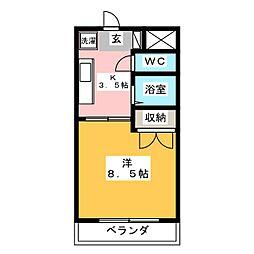 サンライズ松本[1階]の間取り