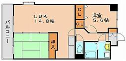 コスモ松島[4階]の間取り