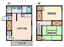 リバーサイド早稲田[1階]の間取り