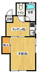 コーポラスチュチュ A棟[1階]の間取り