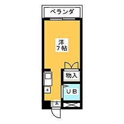 ミリアン稲沢駅前[2階]の間取り