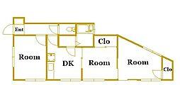 東光ハイツ戸部[1階]の間取り