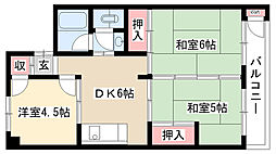 愛知県名古屋市瑞穂区豊岡通3丁目の賃貸マンションの間取り