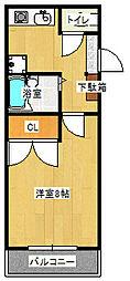 エスパシオ澤田[407号室]の間取り